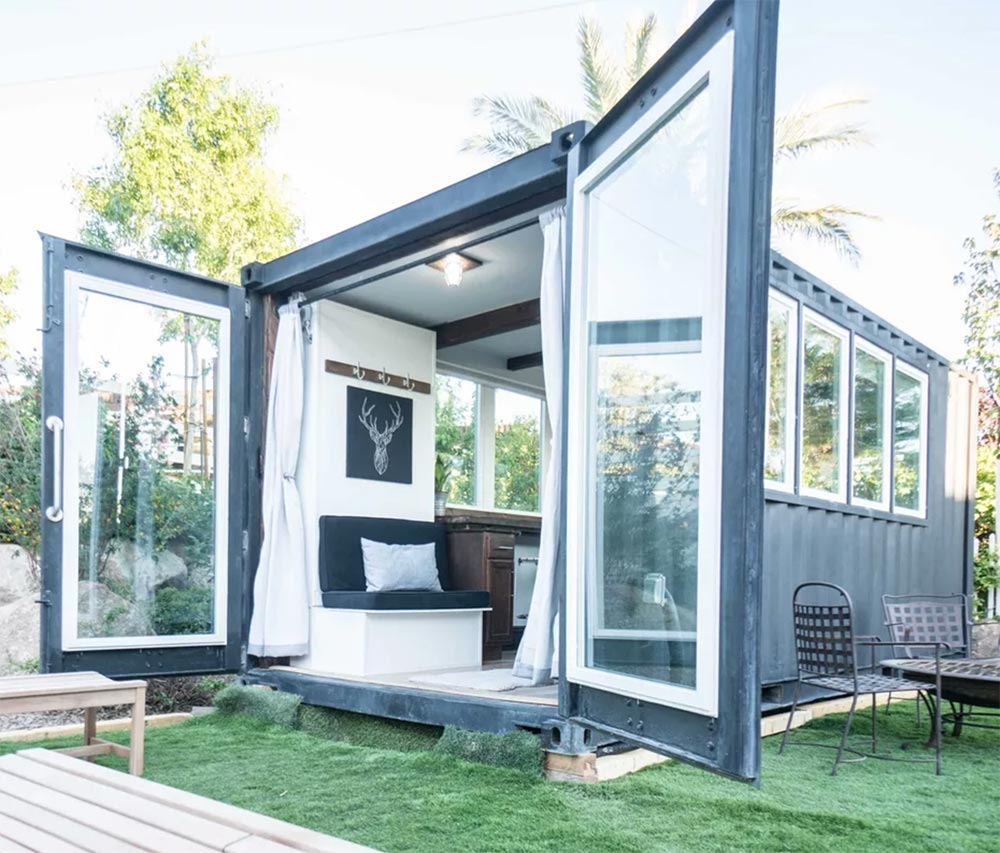 Open Shipping Container Living Unit