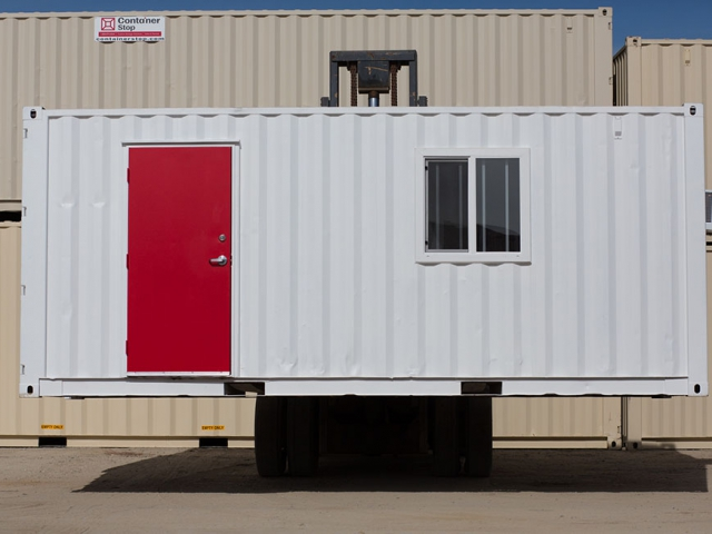 Custom Shipping Container with red door and window