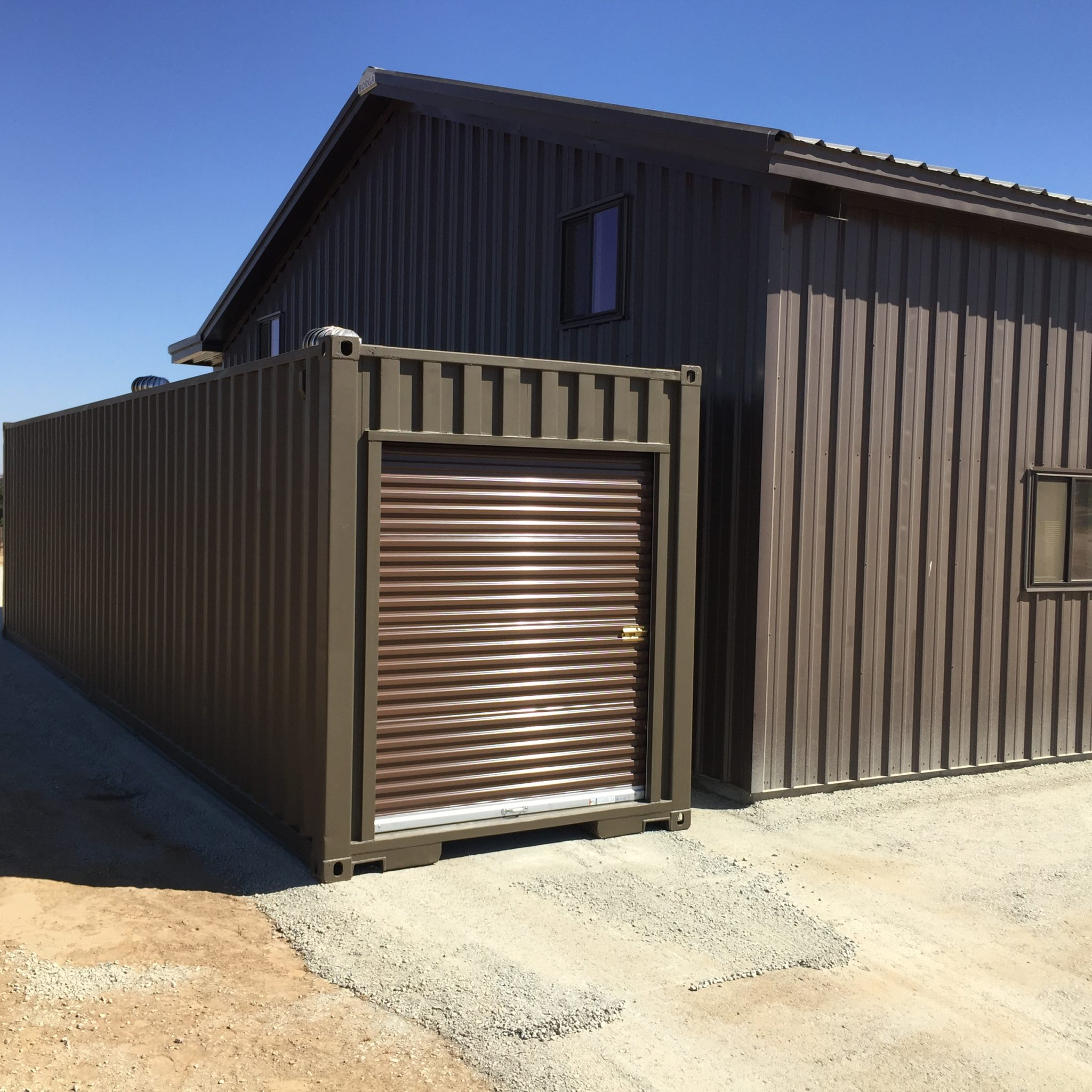 Customized shipping container for storage