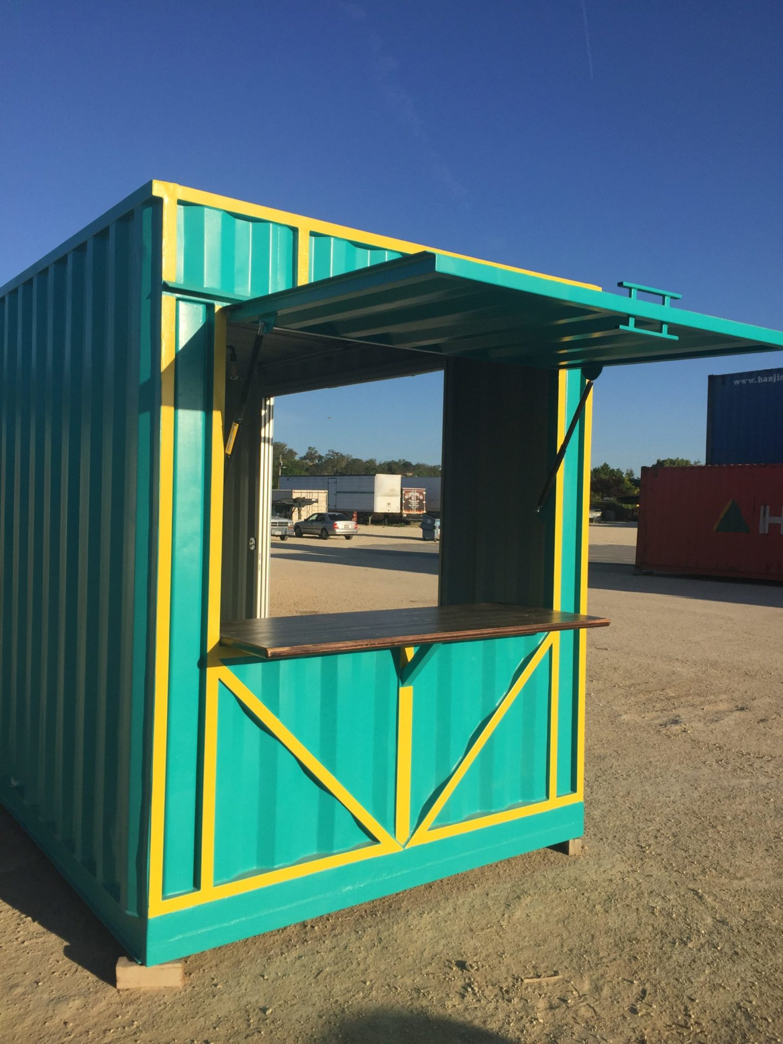 Shipping Container used as Concession Stand