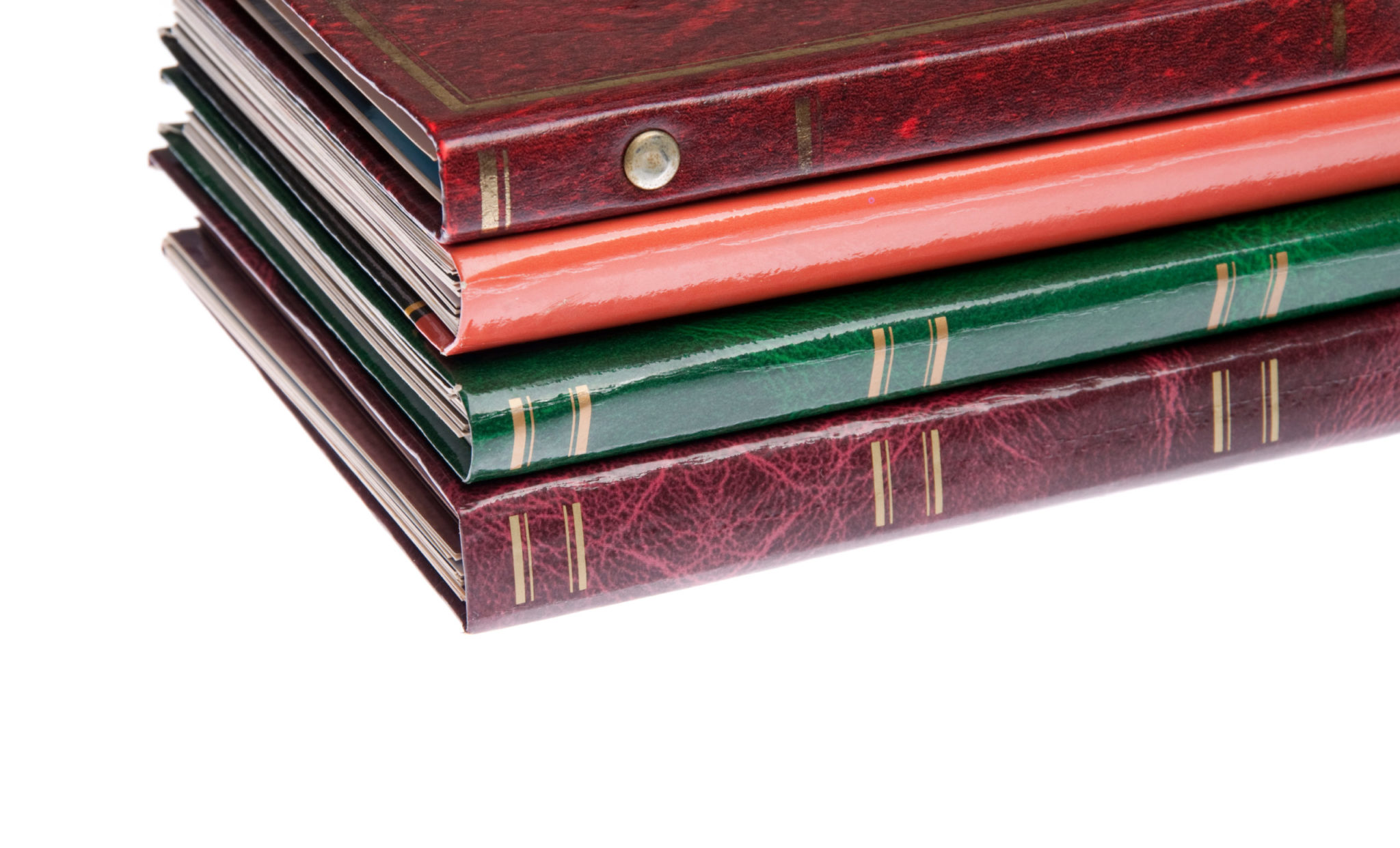 A stack of photo albums to illustrate Temperature-Controlled Storage How Cool Is That