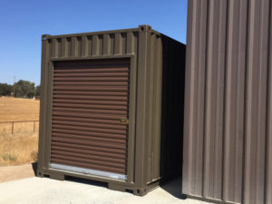 Brown Storage Containers Salinas - roll up door on storage container