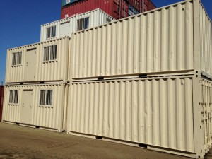 White Storage Containers Arroyo Grande stacked