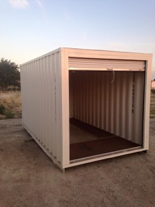 Atascadero shipping container with the door open
