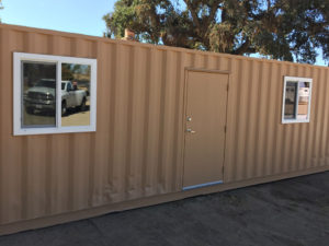 Shipping Container Gilroy with side windows and door entry