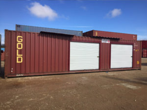 Custom storage container Monterey, Ca two roll up doors